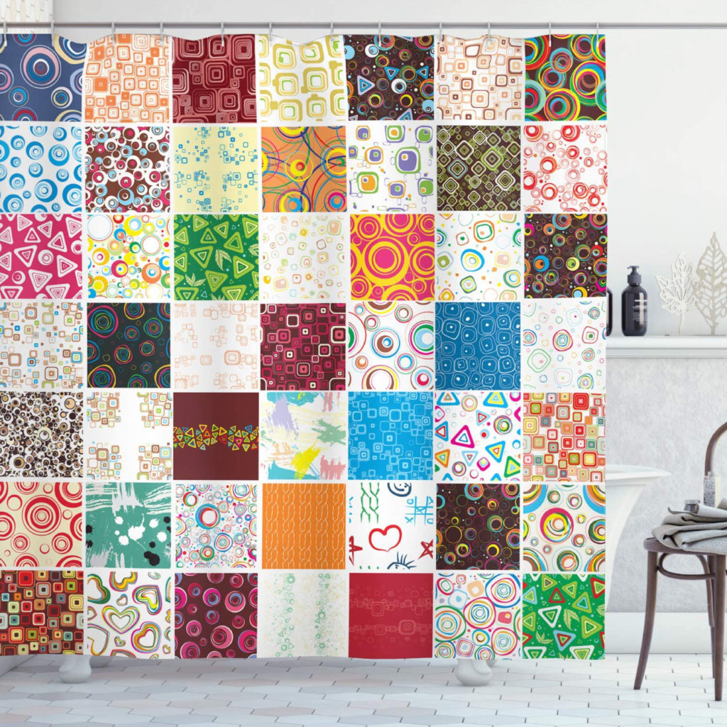 Patchwork Printed Shower Curtains